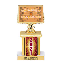 March Madness 2021 Trophy with Rectangular Column - 7""