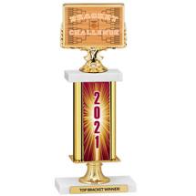 "Basketball Bracket 2021 Trophy 12 1/2"""