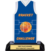 Blue March Madness Basketball Bracket Jersey Trophy