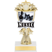 "7 1/2"" Music Notes and Stars Trophy"