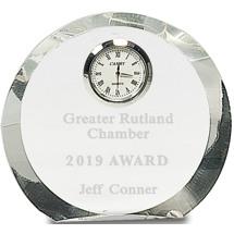 Round Crystal Clock Award