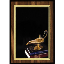 "5 x 7"" Education Plaque with Lamp of Learning Image"