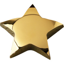 Gold Star Paperweight - Engraved Employee Award