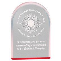 Curved Red Reflective Clear Award