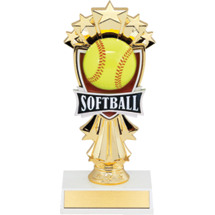 "Softball Trophy - 7 1/2"" Softball and Stars Trophy"