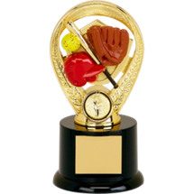 "Softball Trophy - 5"" Colorful Softball Riser Trophy"