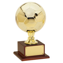 Soccer Trophy - Gold Finish Soccer Ball Trophy