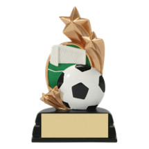 Soccer Trophy - Colorful Resin Soccer Award