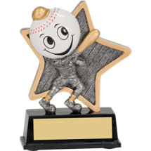 "Baseball Trophy - 5"" Little Pal Baseball Resin Award"