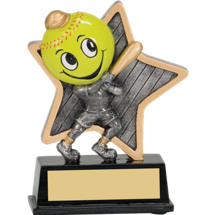 Softball Trophy - Little Pal Softball Resin Award