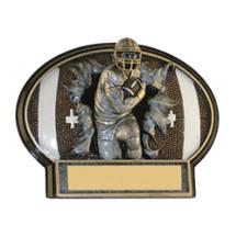 "6 x 4 1/2"" Football 3D Resin Trophy"