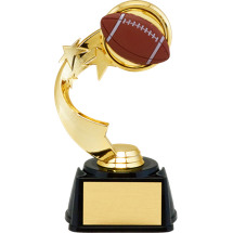 "7"" 3D Football Emblem Trophy with Star Riser"