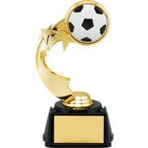 Soccer Trophy - 3D Soccer Emblem Trophy with Star Riser