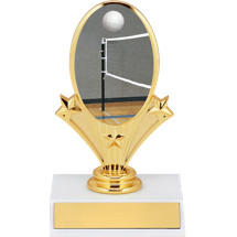"5 3/4"" Volleyball Oval Riser Trophy"