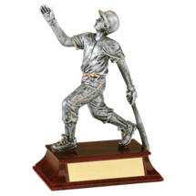 Baseball Trophy - Male Baseball Resin Trophy