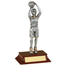 Basketball Trophy - Female Resin Basketball Trophy
