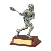 "Limited Quantity! Lacrosse Trophy - Male - 6"" Resin Trophy"
