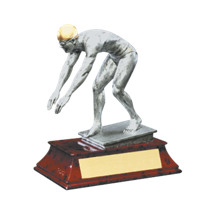 "Swim Trophy - Male - 5 1/2"" Resin Trophy"