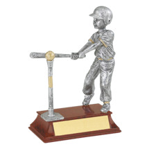 "Limited Quantity! T-ball Trophy - Male - 5 1/2"" Resin Trophy"