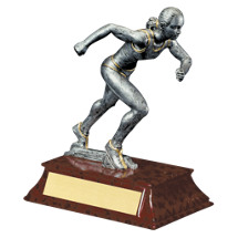 "Track Trophy - Female - 6"" Resin Trophy"