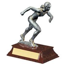 "Track Trophy - Female - 6"" Resin Trophy"