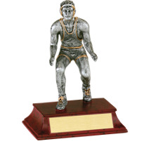 "Wrestler Trophy - Male - 5 1/2"" Resin Trophy"