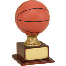 "16 1/2"" Resin Basketball Trophy"