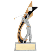 "8"" Golf Female Trophy"