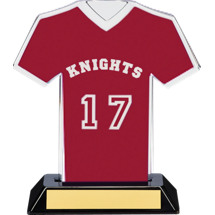 "7"" Maroon Team Name and Number Jersey Shirt Trophy"