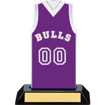 "7 1/2"" Purple Team Name and Number Sleeveless Jersey Trophy"