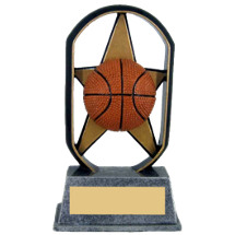 "5"" Economical Star Resin Basketball Trophy"