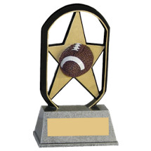 "5"" Economical Star Resin Football Trophy"