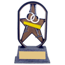 "5"" Economical Star Resin Gymnastics Trophy"
