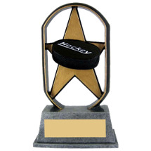 "5"" Economical Star Resin Hockey Trophy"
