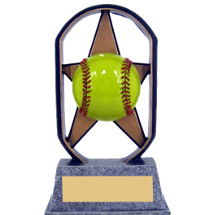 "Softball Trophy - 5"" Economical Star Resin Softball Trophy"