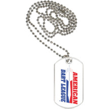 American Dart League Sports Tag with Neck Chain