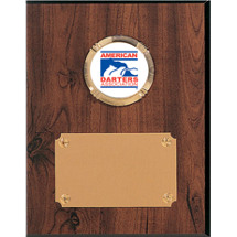 Classic Walnut-Tone Plaque with ADA Emblem