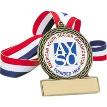 """Soccer Medal - 2 3/4"""" Official AYSO Soccer Medal"""