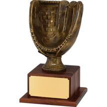 Baseball Glove Trophy - Gold Finish Baseball Glove Trophy