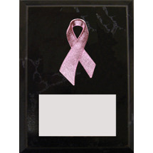 "4"" x 6"" Pink Ribbon Plaque"