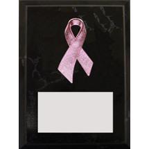 "4"" x 6"" Pink Ribbon Plaque"