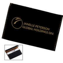 Custom Black Leatherette Business Card Case