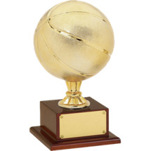 "Basketball Trophy - 16 1/2"" Gold Finish Basketball Trophy"