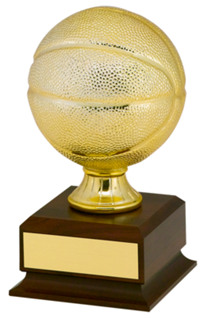 Gold Finish Mini Basketball Trophy