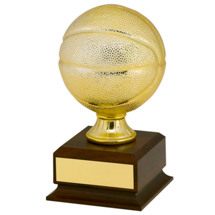 Gold Finish Mini Basketball Trophy