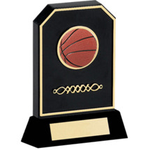 Basketball Trophy - Black Acrylic 3-D Basketball Trophy