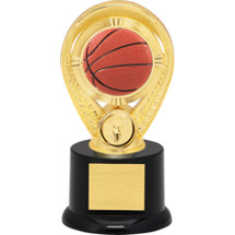 Basketball Trophy - Colorful Basketball Riser Trophy