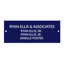 "2 x 8"" Air Force Blue Laminated Door/Name Plate with 2 Holes and Screws"