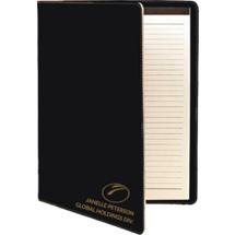 Custom Black Leatherette Portfolio with Notepad