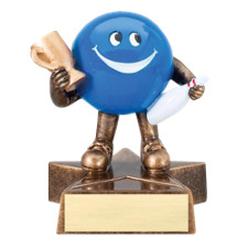 "4"" Resin Happy Bowler Trophy"